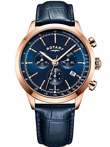 Rotary Men's Cambridge Chronograph Blue Leather GS05257/05