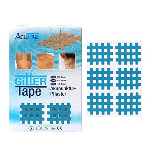 AcuTop Typ B, Gitter Tape, Blau - 120 Tapes, Akupunktur Pflaster, Gitterpflaster