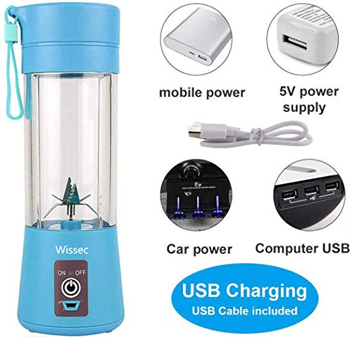Licuadora personal, batidora portátil, recargable, con USB, mini ...