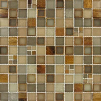 MS International Manhattan Blend Glass Mesh-Mounted Mosaic Wall Tile - Lot of 50 sqf