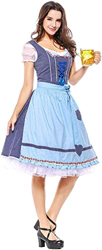 muchas concesiones WEGCJU Oktoberfest Ropa Bávara Cultura Nacional Nacional Nacional Carnaval Traje Criada Juegos De rol Difusa Ropa,azul-L  diseños exclusivos