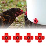 8UCK 12 Pcs Automatic Chicken Water Nipple Drinker Feeders Horizontal Side Mount Poultry Waterer Screw Style Chicken Nipples Livestock Tools