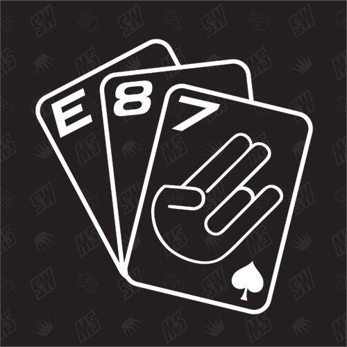 speedwerk-motorwear Spielkarten E87 - Sticker