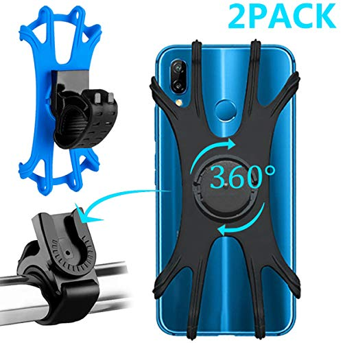 Torchtree - Soporte para teléfono de bicicleta, 360 ° giratorio, ajustable, desmontable,...