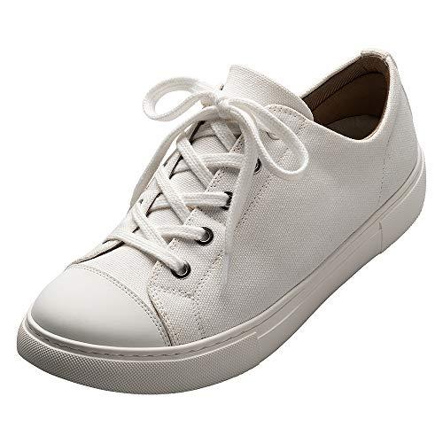 [AKAISHI] アーチフィッター公式 143 2Wayレースアップキャンバス (24.0cm),ホワイト スニーカー コンフォート 外反母趾や足底筋膜炎にやさしい