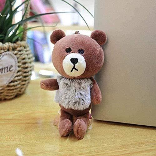 16cm small dinosaur crab panda plush toy owl doll backpack key chain pendant toy children's giftKTFBH