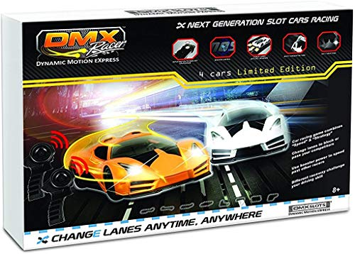 DMXSLOTS Exclusive Slot Car Racing Package (4 Cars Included)