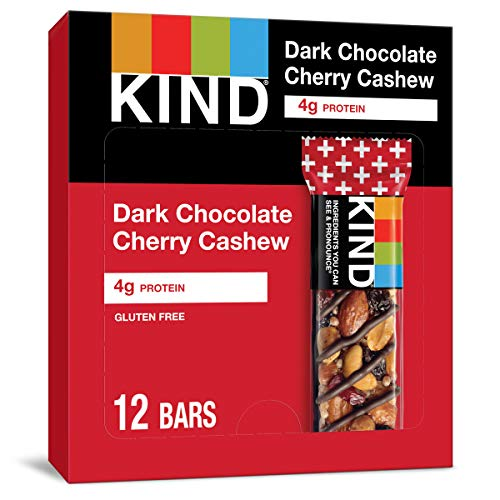 KIND Bars, Dark Chocolate Cherry Cashew + Antioxidants, Gluten Free, 1.4 Ounce (12 Count)