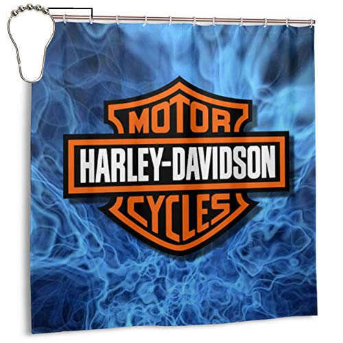 """Harley Davidson Shower Curtain for Bathroom - Spa, Hotel Luxury, Waterproof Polyester Fabric 72"""" X 72"""" for Decorative Bathroom Curtains with Hooks"""