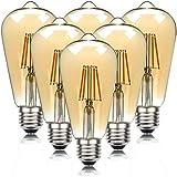QREZ Bombilla Vintage E27 Edison, Bombilla LED E27 Edison Vintage Bombilla...