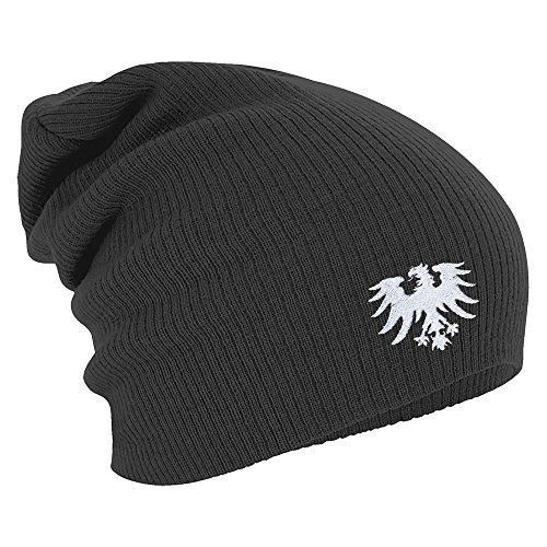Fan-O-Menal Textilien Longbeanie Slouch-Beanie Wintermütze Adler Frankfurt 55351 Farbe grau