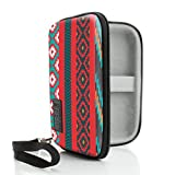 USA Gear Protective Hard Shell Digital Voice Recorder Slim Case - Compatible with Dennov, YEMENREN R9, DICTOPRO X100, Olympus DP-201, VR-BK8 and More Compact Voice Recorders - Southwest