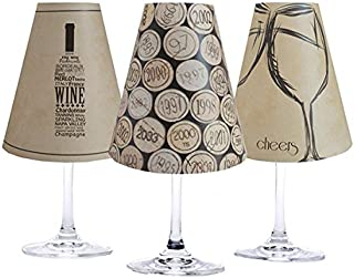 di Potter WS239 Napa Paper White Wine Glass Shade, Parchment (Pack of 6)
