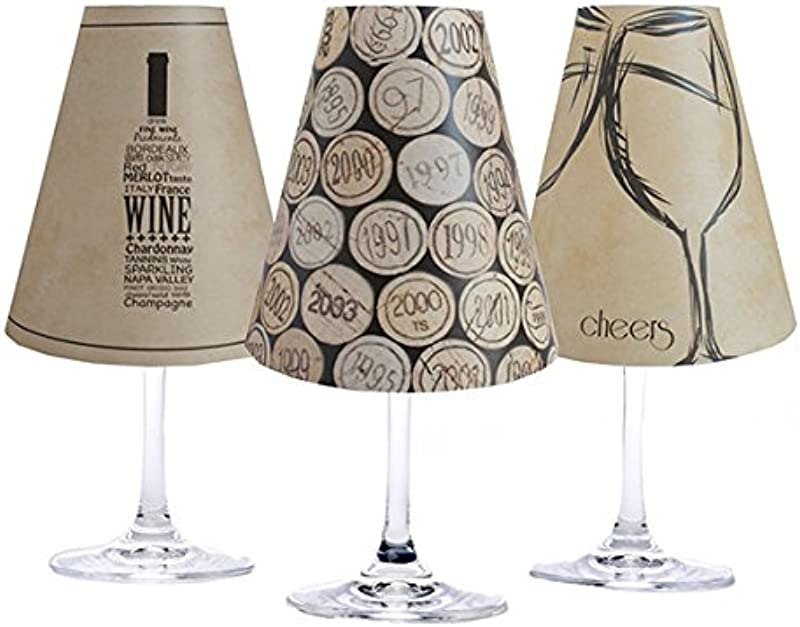 Di Potter WS239 Napa Paper White Wine Glass Shade Parchment Pack Of 6