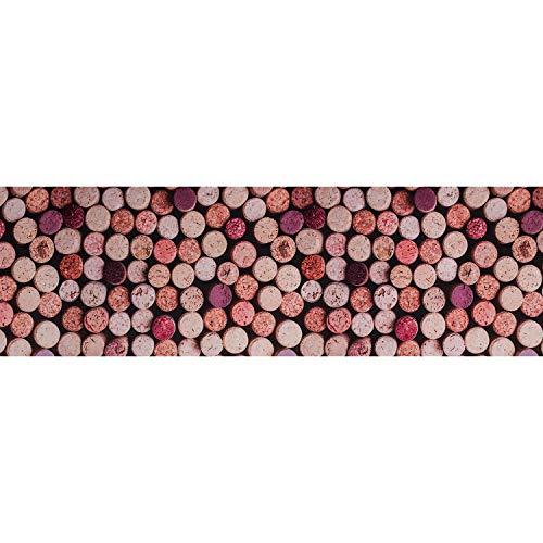Tappeto PRINTY - Tappeto multiuso antiscivolo per ingresso, cucina, camera, bagno - Lavabile in lavatrice - 50x140 cm