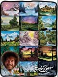 Seven Times Six Bob Ross Picture Collage Blanket 46' X 60' Flannel Fleece Throw