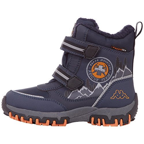 Kappa Unisex-Kinder Rescue Tex Klassische Stiefel, Blau (6744 Navy/orange), 33 EU