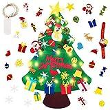 Reccisokz Fieltro Árbol de Navidad UK Justdolife Árbol de Navidad DIY con 50 Luces LED 30 Unids Adornos Navidad Decoración Colgante para Niños Niños arbol de Navidad Cafe Hotel casa decoración
