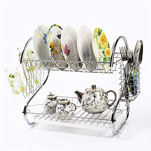 WENBING Küchenschrank Organizer, Küchenhelferregal mit 2 Etagen, mit großem Stauraum, Küchenschrankordnungssysteme