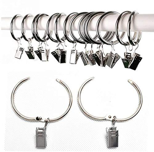 20 Stks RVS Reizen Thuis Kleding Boot Haak Metalen Ring Hangers met Clips