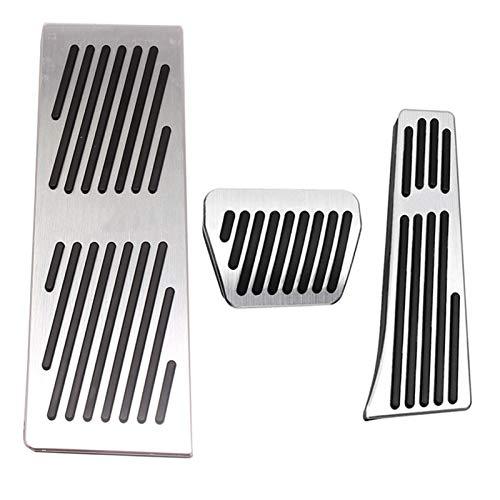 ZXC Aleación de Aluminio Acelerador Freno Resto del pie del Pedal del Pedal PadsCar Pads Pedales Cubierta en Forma for el BMW X3 X4 G01 G02 G11 Serie 7-G12 Atmósfera Simple (Color Name : 3pcs)