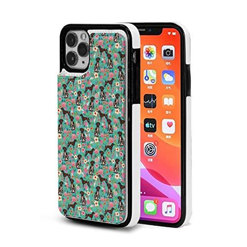 Alemán de Pelo Corto Puntero Floral Caso Para el iPhone 11 Pro Con Titular De La Tarjeta Lindo Cartera Para Mujeres Hombres