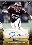 2020 Leaf Draft (NFL) Football Autograph Gold #BA-JM2 Justin Madubuike Auto Texas A&M Pre Rookie RC Official Player Licensed Trading Card (in NCAA Uniform)