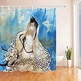 Nyngei Wolf Totem Duschvorhang Art Home Badezimmer Dekor Polyester & 12hooks 183X183CM