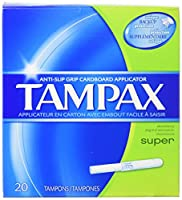 Tampax Super, 20 Tampons each (Value Pack of 6)