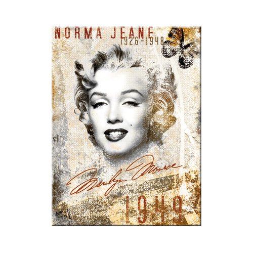 Nostalgic-Art 14207 Celebrities - Marilyn, portret-collage, magneet, 8 x 6 cm