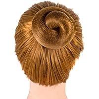 Favsonhome - 20 redes de pelo reutilizables invisibles con borde elástico para mujeres, niñas, moño de ballet (café claro)