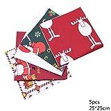 25 * 25 cm de algodón Serie Tejido de Feliz Navidad, Tejido Estampado Patchwork Santa Lindo muñeco de Nieve, Equipamiento de Coser de Costura DIY,B02