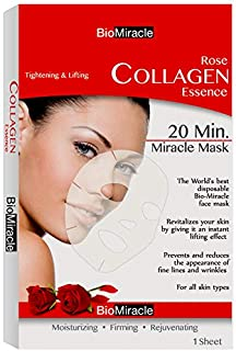 BioMiracle - Rose Collagen Essence Mask for Tightening & Lifting