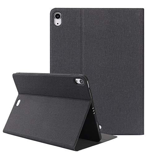 ZST Carcasa Funda iPad Air 4 10.9 2020, Slim Folio Case Fundas Funda para iPad Air 4 10.9 Pulgadas 2020(Auto-Sueño/Estela),Negro