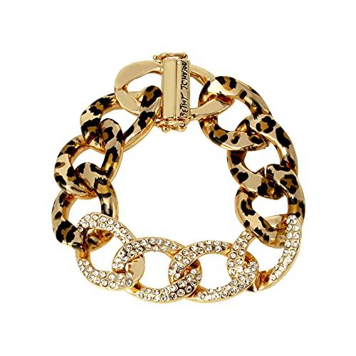 Betsey Johnson Leopard Link Bracelet