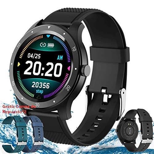 【2020 Nuevo】Pulsera Deportiva Bluetooth,Reloj Inteligente,Smartwatch Pulsera Inteligente,Reloj Deportivo para Android y iOS Móvil,...