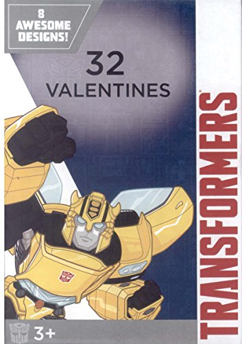 Transfromers Kids Valentines Day Card Classroom Exchange (32 count)