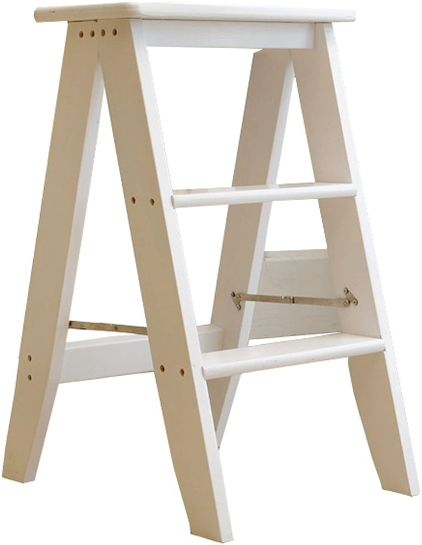 Step Stool Wood,Bed Steps Plant Multifunctional Wood Folding ...