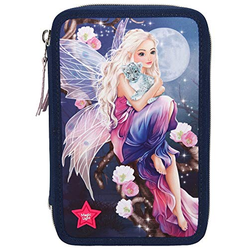 Depesche 10988 3-Fach Federtasche Fantasy Model mit Led
