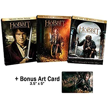 The J R R Tolkien Classic Works Collection  The Hobbit - Complete Special Edition Movie Series 1-3  An Unexpected Journey / Desolation of Smaug / Battle of the Five Armies  + Bonus Art Card