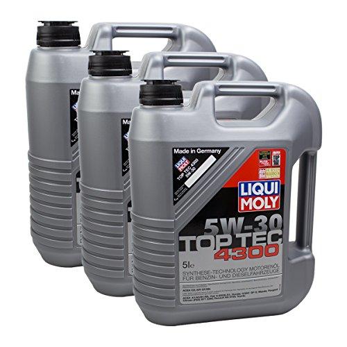 3x LIQUI MOLY 3741 Top Tec 4300 5W-30 Motoröl
