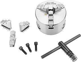 Mandril de torno, mandril mecânico de 3 garras para máquina de torno, 80 mm de diâmetro