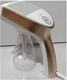 XUMI Clothes Steamer Face Steamer Machine, Portable Handheld Travel Iron 1200W Garment Steamer with 350 Ml Exchangeable Water Tank Suitable for Home and Travel,Gold