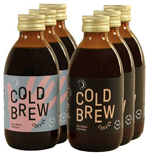 Good Spirits Bio Cold Brew Coffee 3x Ethiopia & 3x Colombia Kaffee Kaltgetränk, EINWEG (6 x 200 ml)