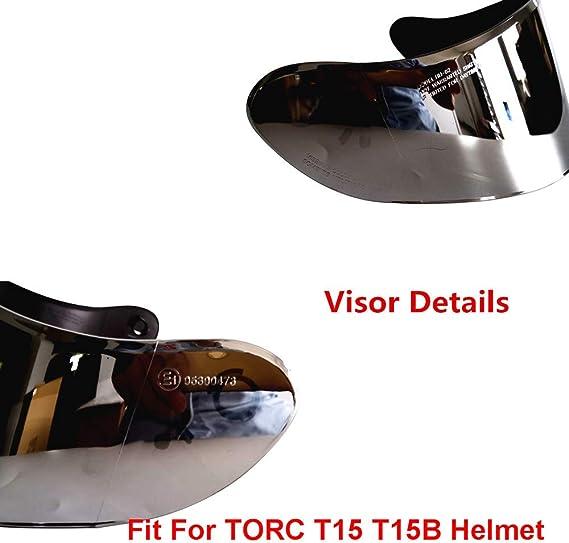 VCOROS Visor For TORC T15 T15B Bluetooth Helmet Visor Replacement Face Shield Clear Anti-fog