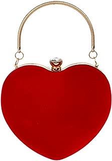 Mily Heart Shape Clutch Bag Messenger Shoulder Handbag Tote Evening Bag Purse