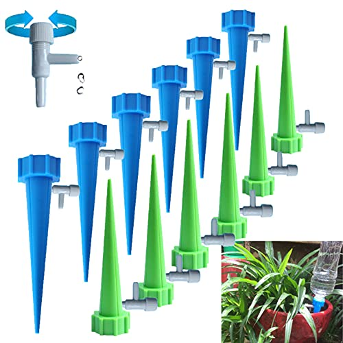 MINGUUK Plant Self Watering Spikes Devices(12 Pcs),Automatic Drip...