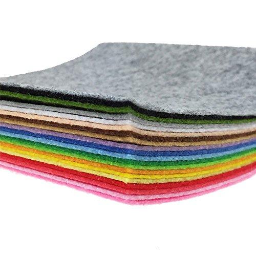 20Pcs 15cm*15cm tessuto in feltro fogli confezione non tessuto cucito fai da te Craft quadrati in feltro, colori assortiti