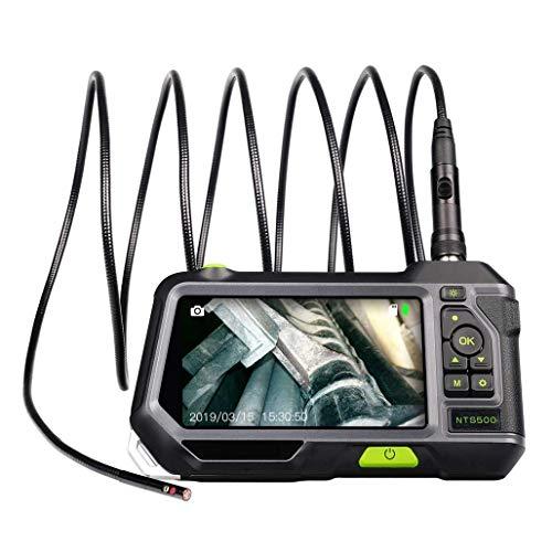 Cámara De Inspección De Boroscopio con Doble Lente, Endoscopio 720P HD Pantalla IPS...