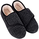 LongBay Women's Furry Memory Foam Diabetic Slippers Comfy Cozy Arthritis Edema House Shoes